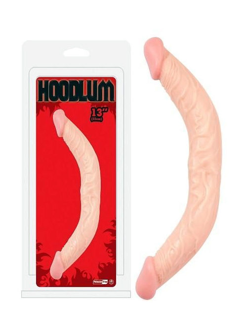 13 inch hoodlum curved double dong