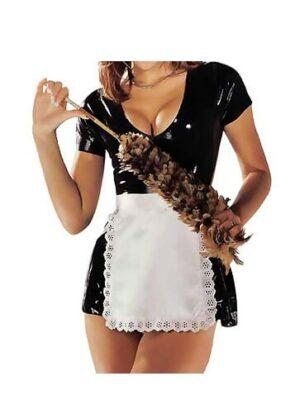 sharon sloane latex maids dress