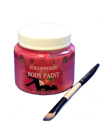 strawberry body paint